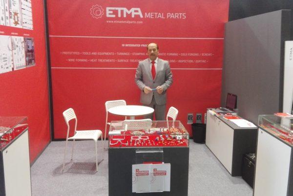 O stand da ETMA na Hannover Messe 2017